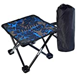 Tongcloud Portable Folding Stool Folding Chair Camping Stool for BBQ, Fishing, Hiking, Garden Lightweight Sturdy Chair