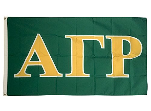 (Alpha Gamma Rho Letter Fraternity Flag Greek Letter Use as a Banner Large 3 x 5 Feet Sign Decor agr)