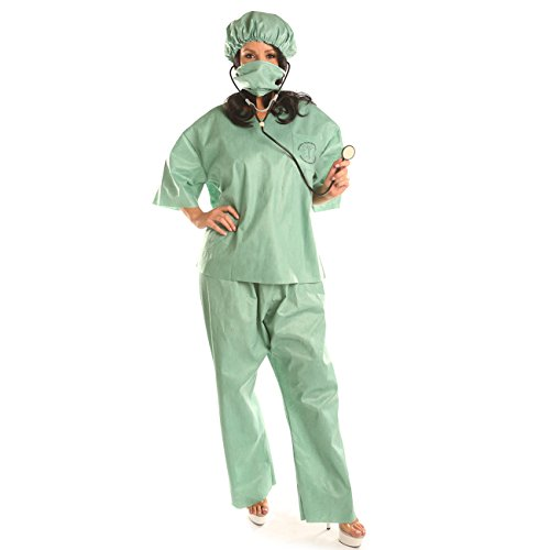 Disiao Women's Doctor Surgeon Costume Halloween Cosplay (Doctor Costume Women)