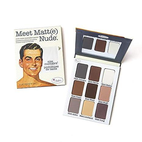 458e7fc6e Amazon.com: theBalm - Meet Matt(e) Nude Eyeshadow Palette: Luxury Beauty