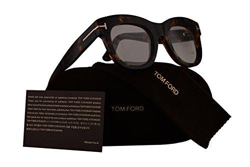 Tom Ford FT5493 Eyeglasses 49-22-140 Havana w/Demo Clear Lens 052 TF5493 FT 5493 TF - Tom Ford Men Sale