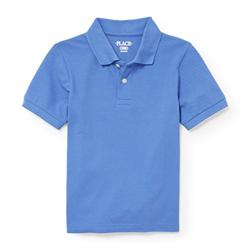 The Children's Place Big Boys' Short Sleeve Uniform Polo, Keepsake Blue 2428, M (7/8) by The Children's Place