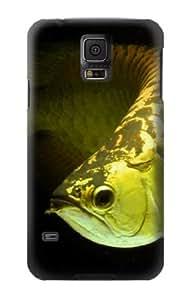 S1021 Gold Arowana Fish Case Cover For Samsung Galaxy S5