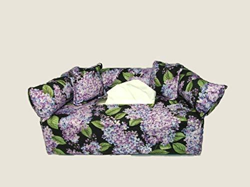Lilacs Designer fabric tissue box cover. Includes Tissue