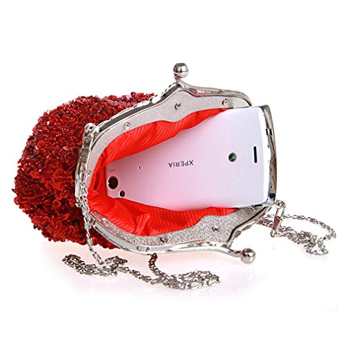 Sequine Sac Vintage Brodé Sac Purse Soirée Sac Mode Sac De Main Perlée Pink Diamant YANXH Mariée De À Clutch De qwOaBg8