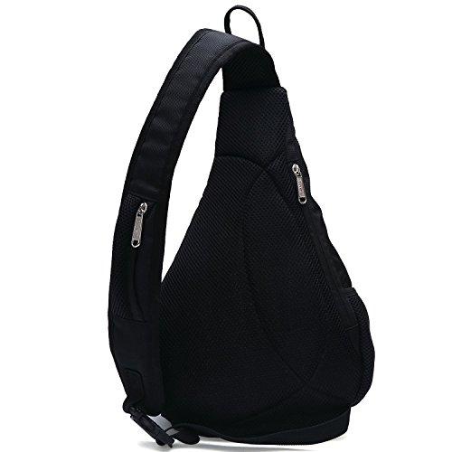 Tinyat T509 Umhängetasche Business-Bags Wandern Brust Staubbeutel Pack Segeltuchtasche für Männer und Frauen Schwarz