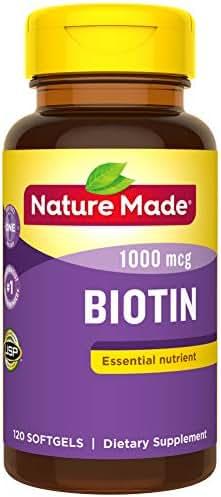 Nature Made Biotin 1000 mcg Softgels, 120 Count (Packaging May Vary)