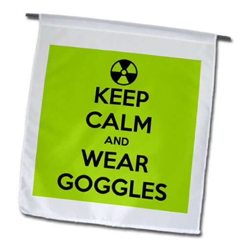 3dRose fl_159617_1 Keep Calm and Wear Goggles Chemistry Bio Chemistry Laboratory Technician Professor Garden Flag, 12 by - Goggles Custom