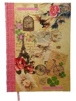 Cuaderno Vintage A4 de Tapas Duras Pájaros y Jaulas para Niña ...