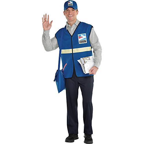 amscan Mailman Halloween Costume Accessory Kit, One Size, 3 Pieces]()