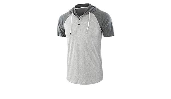 iZZB Tops - Camiseta Deportiva Deportiva para Hombre (Manga Corta ...