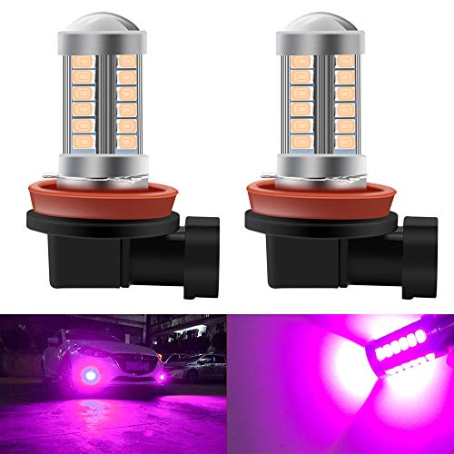 2pcs SUPER Bright Pink H11/H8 LED Bulbs for Fog Lights 5730 33SMD Fog Lamp Driving DRL Lights 12V