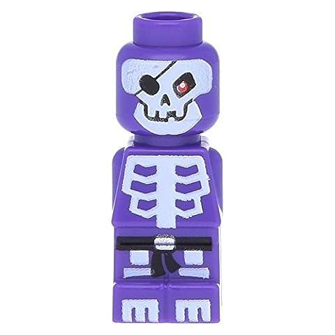 LEGO Microfig Ninjago Skeleton Dark Purple (very small) - x1 Loose - Sand Mad Cat