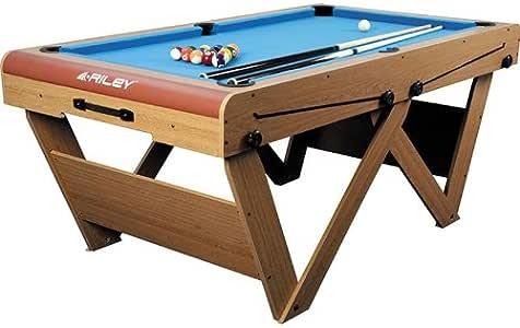 Riley FSPW-6 Mesa de Billar Snooker Plegable 183 x 79 x 97cm ...