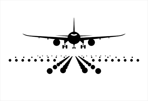 GOStickIT Jumbo Jet Airplane Landing Design Vinyl Wall Art Decal 30
