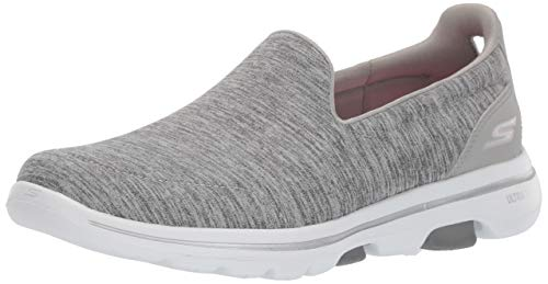 Skechers Women's GO Walk 5 - Honor Shoe, Gray, 7.5 W US