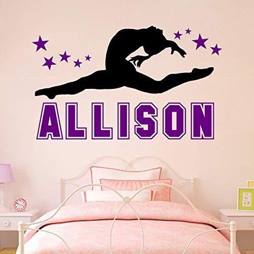 Personalized Custom Name Cheerleader Gymnastics Dance Wall Decal Sticker Customized Choose Size Color Girls Teen