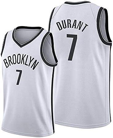 Image of Camiseta de Baloncesto para Hombre, Nets #11 Irving #7 Durant Camisa Bordada de Swingman de Malla