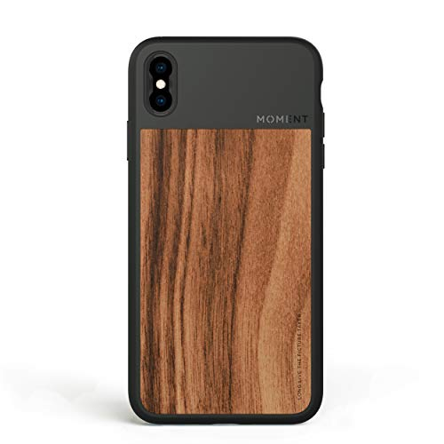 iPhone Xs Max Case || Moment Photo Case in Walnut Wood - Protective, Durable, Wrist Strap Friendly case for Camera Lovers.