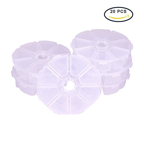 Pandahall Compartments Organizer Containers 105x105x28mm