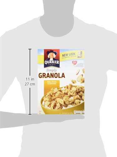 Large Product Image of Quaker Simply Granola Oats, Honey & Almonds, Breakfast Cereal, 28 oz Boxes, Twin Pack