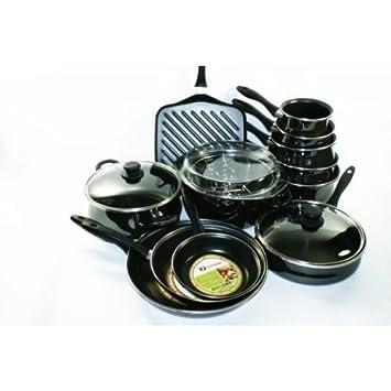 vitrinor a03 - batteria da cucina, 15 pezzi, pentole e padelle ad ... - Batterie Da Cucina
