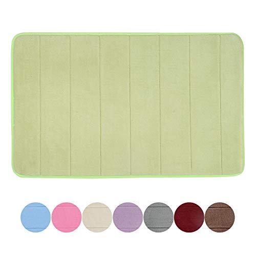 GRAND ERA Memory Foam Bath Mat Non Slip Absorbent Super Soft Velvet Microfiber Plush Shower Bathroom Rug Carpet, 16