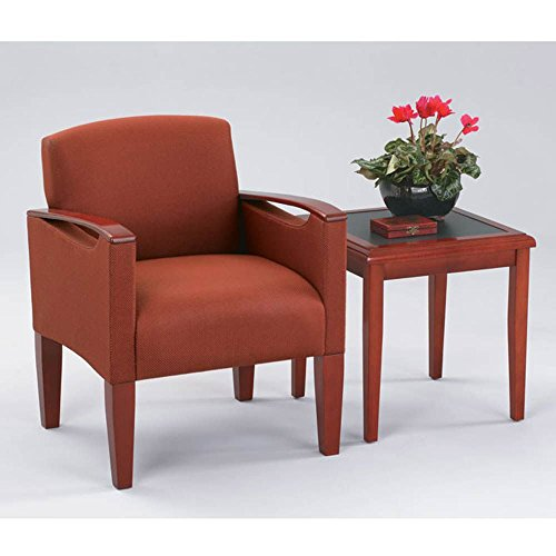 Lesro Brewster Fabric Guest Chair w/End Table Dimensions: 26