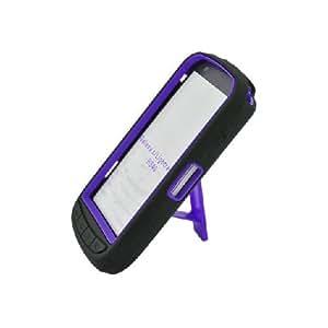 Samsung Galaxy S Lightray 4G R940 Black Hard Soft Gel Dual Layer Purple Kickstand Cover Case