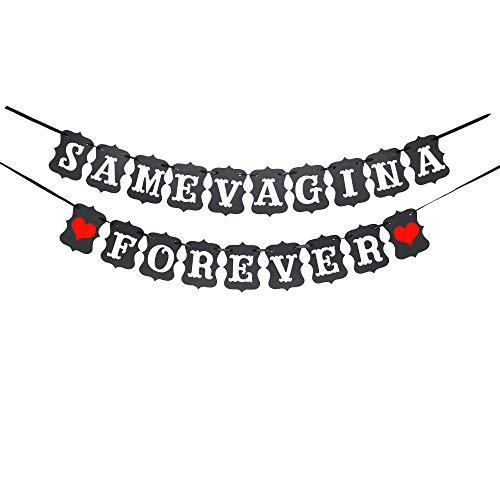 btsond Same Vagina Forever, Bachelor Banner, Wedding Shower Decor