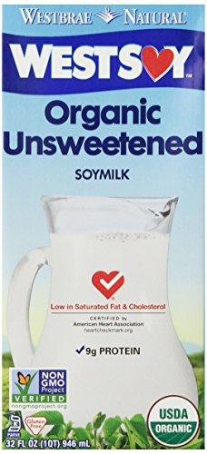 West Soy Organic Soymilk, Unsweetened, 32 Fl Oz