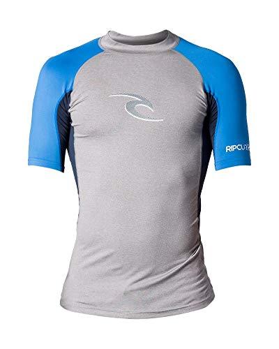 Camiseta De Lycra Rip Curl Wave S/sl Uv Light Grey Heather M