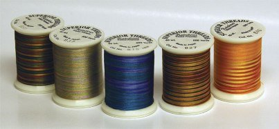 Superior Threads Rainbows #40 Embellishment Thread 500 yds Spool; Set of 62 colors 110-01-SET by Superior Threads