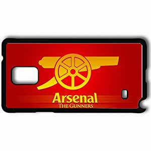 Personalized Samsung Note 4 Cell phone Case/Cover Skin Arsenal Football Club Gunners Emblem Logo Gun Black