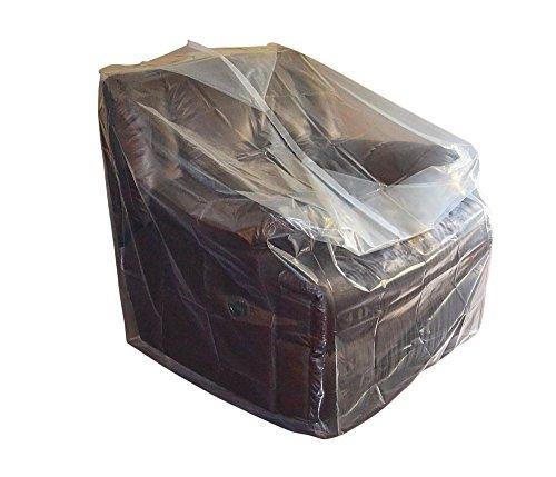 CRESNEL Furniture Cover Plastic Bag for Moving Protection and Long Term Storage (Chair_2Packs)