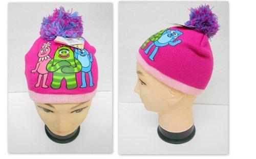 Yo Gabba Gabba Kids/Youth Beanie Hat - Foofa, Brobee, Todee with Pom Pom]()