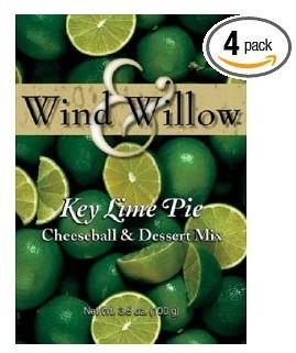 Wind and Willow Key Lime Pie Cheeseball & Dessert Mix - 3.5 Ounce (4 Pack) - Key Lime Pie Cheesecake