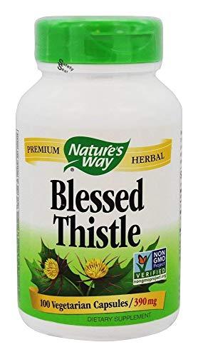 Natures Way Blessed Thistle, 390 milligrams Per Cap, 100 Vegetarian Capsules (Herbal 100 Singles Caps)