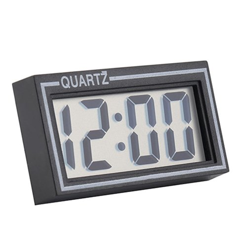ekqw015l Fashion Clock for Home Living Room Bedroom Decor & Digital LCD Screen Table Auto Car Dashboard Desk Date Time Calendar Small Clock