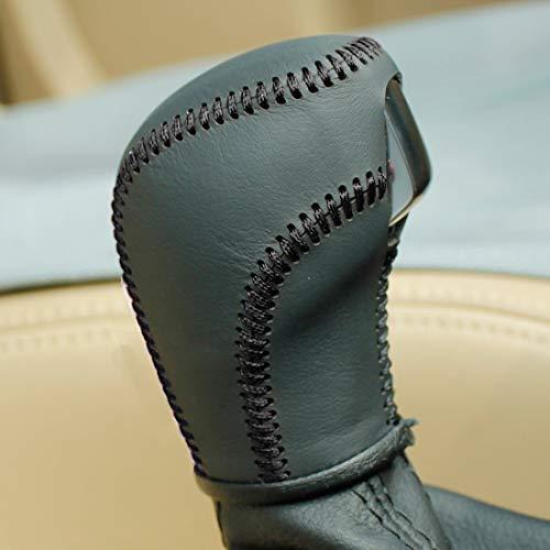 JI Loncky Auto Car Leather Gear Shift Knob Cover for VW Golf Jetta Passat Tiguan Touareg Beetle GLI Eos CC Golf TDI E-Golf Golf Sportwagen Jetta Hybrid Golf R Golf GTI Jetta Sportwagen Accessories