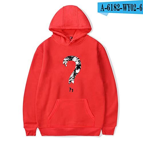 The small cat Hoodies Men/Women Casual Pullover Streetwear Sweatshirt Male Hood Crewneck 4XL,red1,S (Cat-ausschnitt)