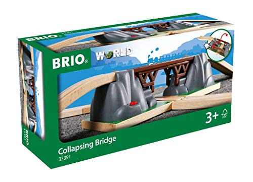 BRIO World – 33391 Collapsing Bridge   3 Piece Toy Train Accessory for Kids Age 3 and Up