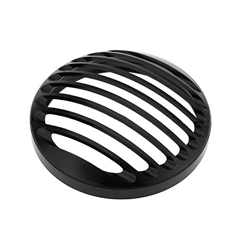 Cherry-Lee Motorcycle Cover Mask, 5.75 Inch Motorcycle Headlight CNC Grill Cover Mask Headlamp Billet Cover Suitable for Harley Davidson Sportster XL883 ()