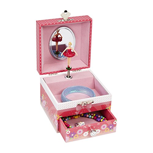 Ballerina Flower - JewelKeeper Musical Jewelry Box with Dancing Ballerina, Ballerina and Flower Design, Girl's Storage Case, Swan Lake Tune