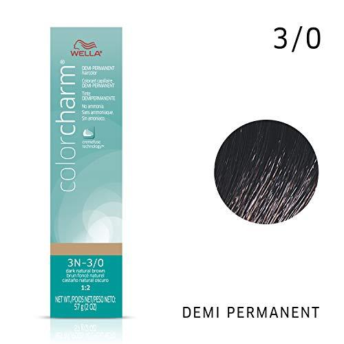Wella Dark Natural Brown Demi Permanent Hair Color 3N-3/0 Dark Natural Brown, 2 oz