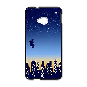 HTC One M7 Cell Phone Case Black_THE KID WHO DIDN'T WANT TO GO TO SLEEP Hnwce