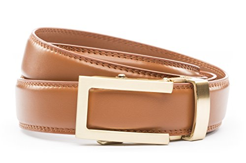 Anson Belt /& Buckle Mens 1.25 Traditional in Formal Gunmetal Buckle with Ratchet Belt Strap