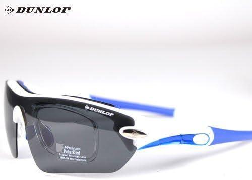 ダンロップ DU-006-3 ホワイト/ブルー(1眼タイプ) 度付レンズ付きサングラス