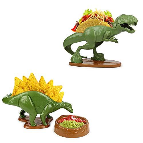 (Set) Nachosaurus w/Dip Bowl & Tacosaurus Rex Holder - Prehistoric Appetite