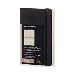 Moleskine 2017 Panoramic Planner, 12M, Pocket, Black, Soft Cover (3.5 x 5.5) B015NG459M